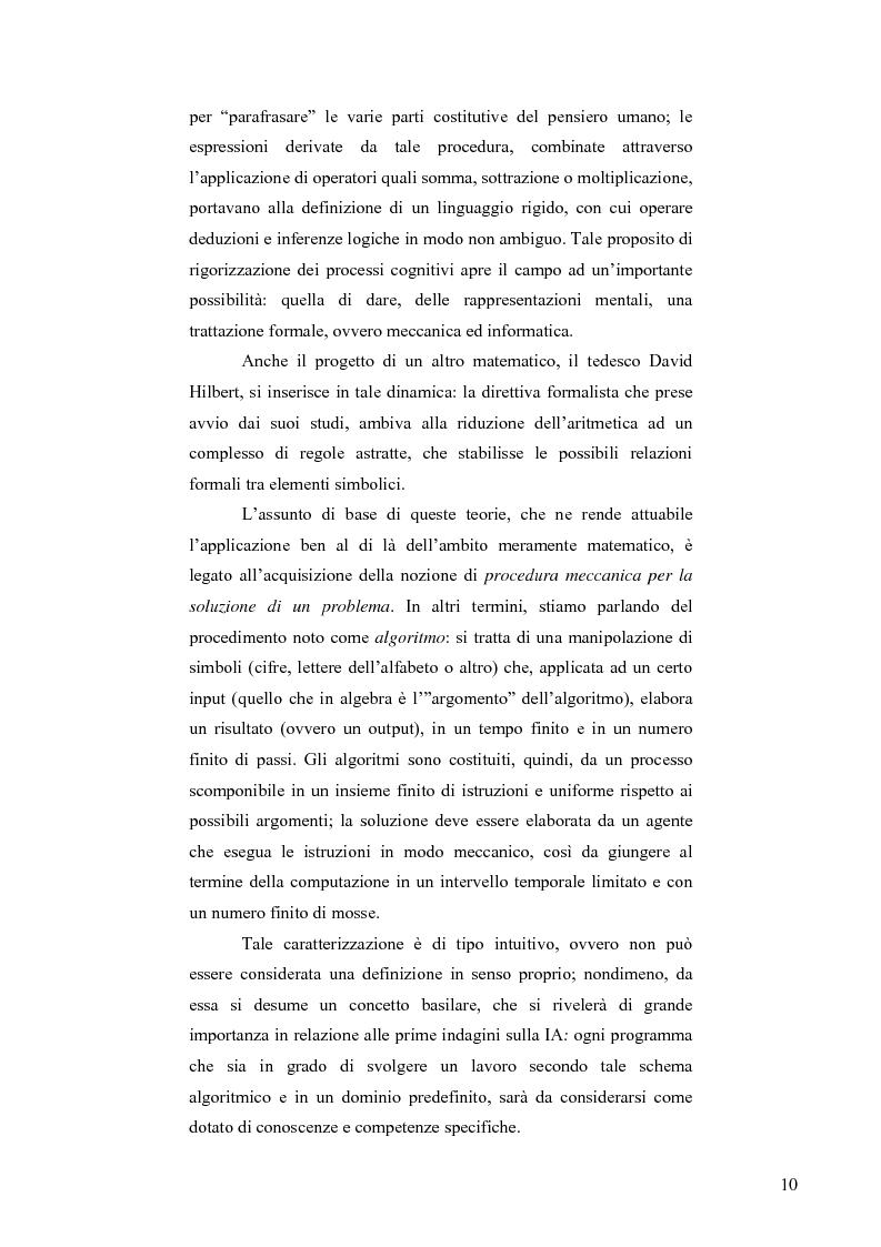 Anteprima della tesi: Artificial Intelligence. Un programma di ricerca filosofico, Pagina 8