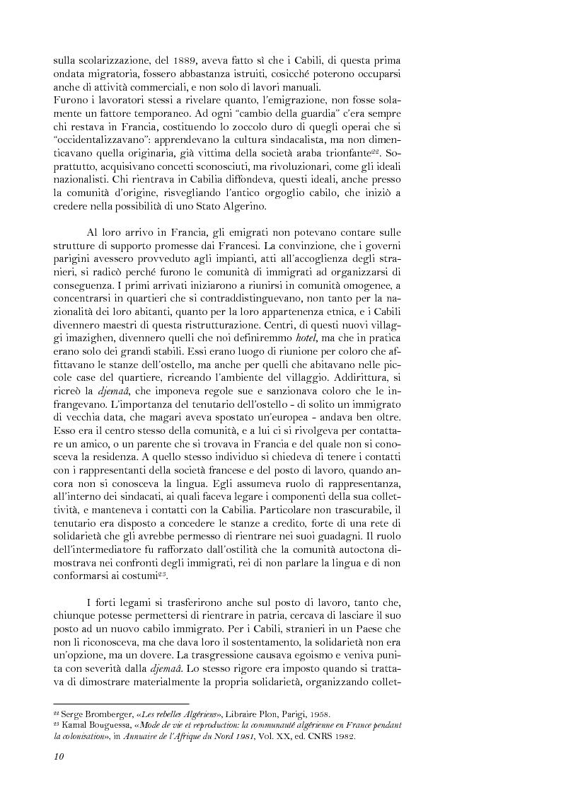 Anteprima della tesi: La lotta per il riconoscimento di un'identità: la ''Primavera Nera'' in Cabilia, Pagina 10