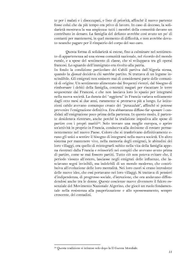 Anteprima della tesi: La lotta per il riconoscimento di un'identità: la ''Primavera Nera'' in Cabilia, Pagina 11