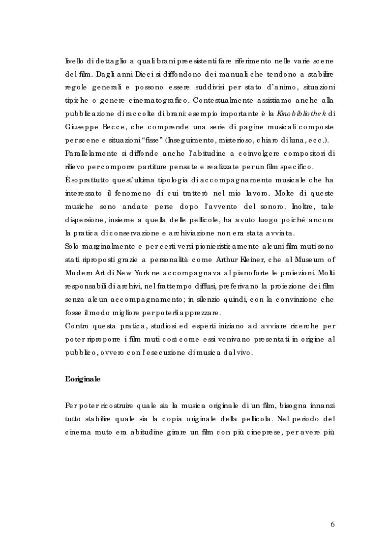 Anteprima della tesi: La riscoperta delle musiche originali per il cinema muto: trent'anni di festival e revival, Pagina 2