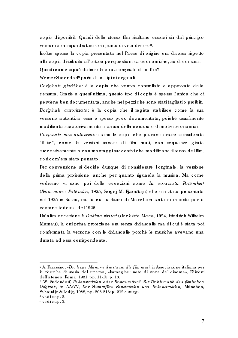 Anteprima della tesi: La riscoperta delle musiche originali per il cinema muto: trent'anni di festival e revival, Pagina 3