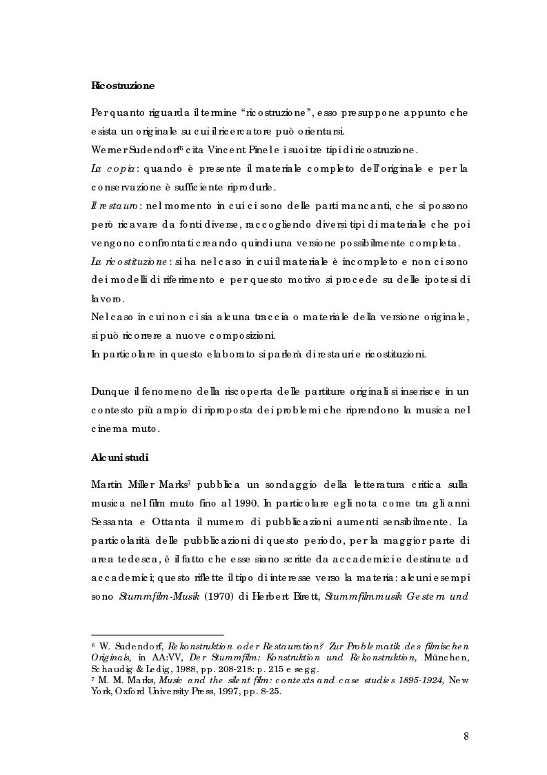 Anteprima della tesi: La riscoperta delle musiche originali per il cinema muto: trent'anni di festival e revival, Pagina 4