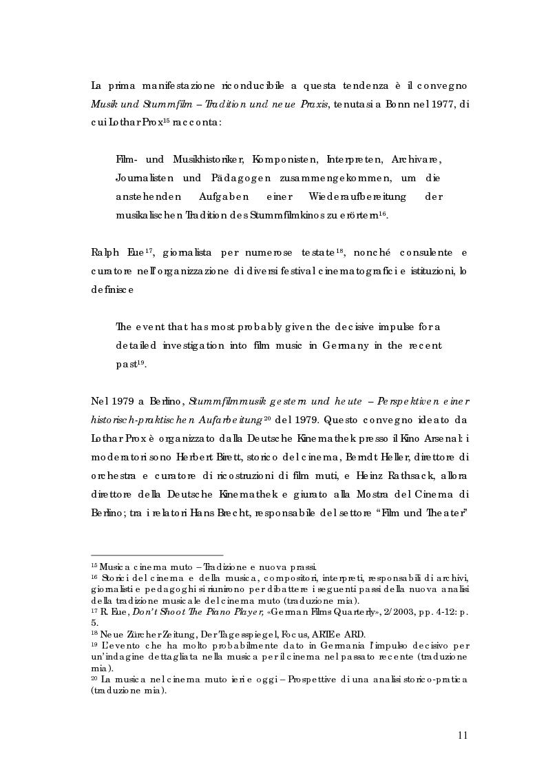 Anteprima della tesi: La riscoperta delle musiche originali per il cinema muto: trent'anni di festival e revival, Pagina 7