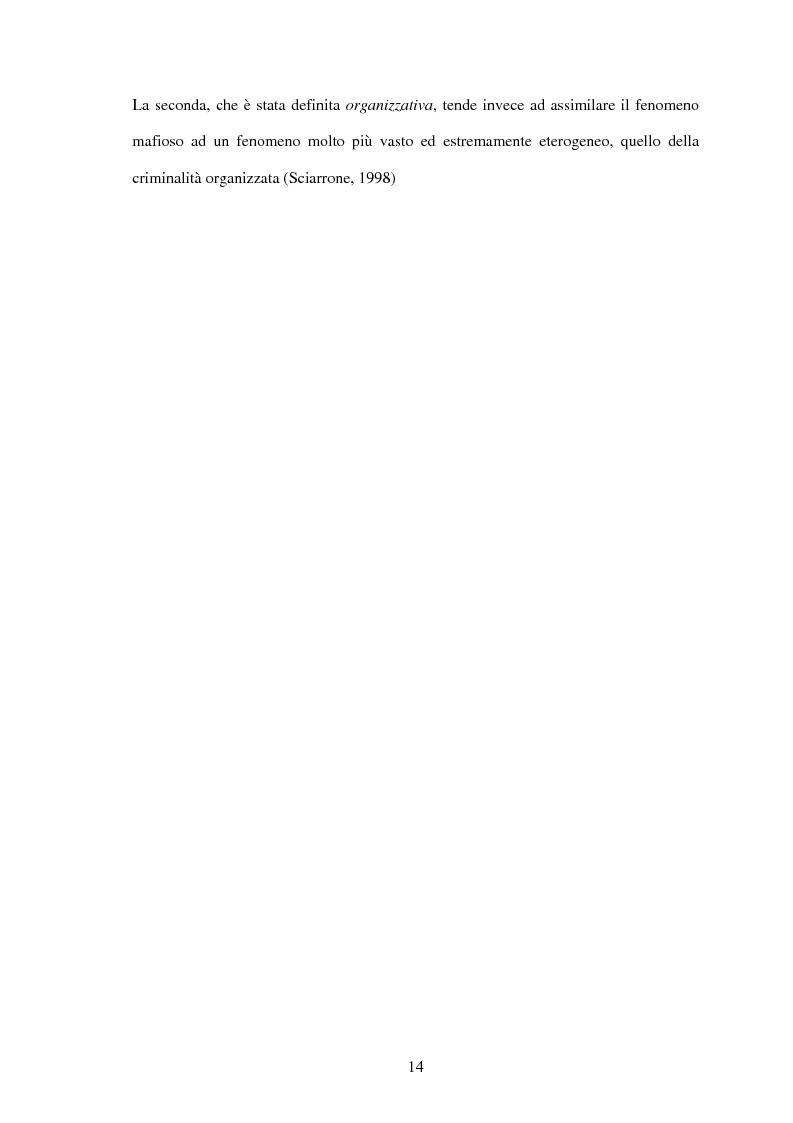 Anteprima della tesi: La criminalità organizzata di matrice mafiosa in Puglia, Pagina 12