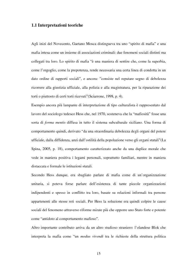 Anteprima della tesi: La criminalità organizzata di matrice mafiosa in Puglia, Pagina 13