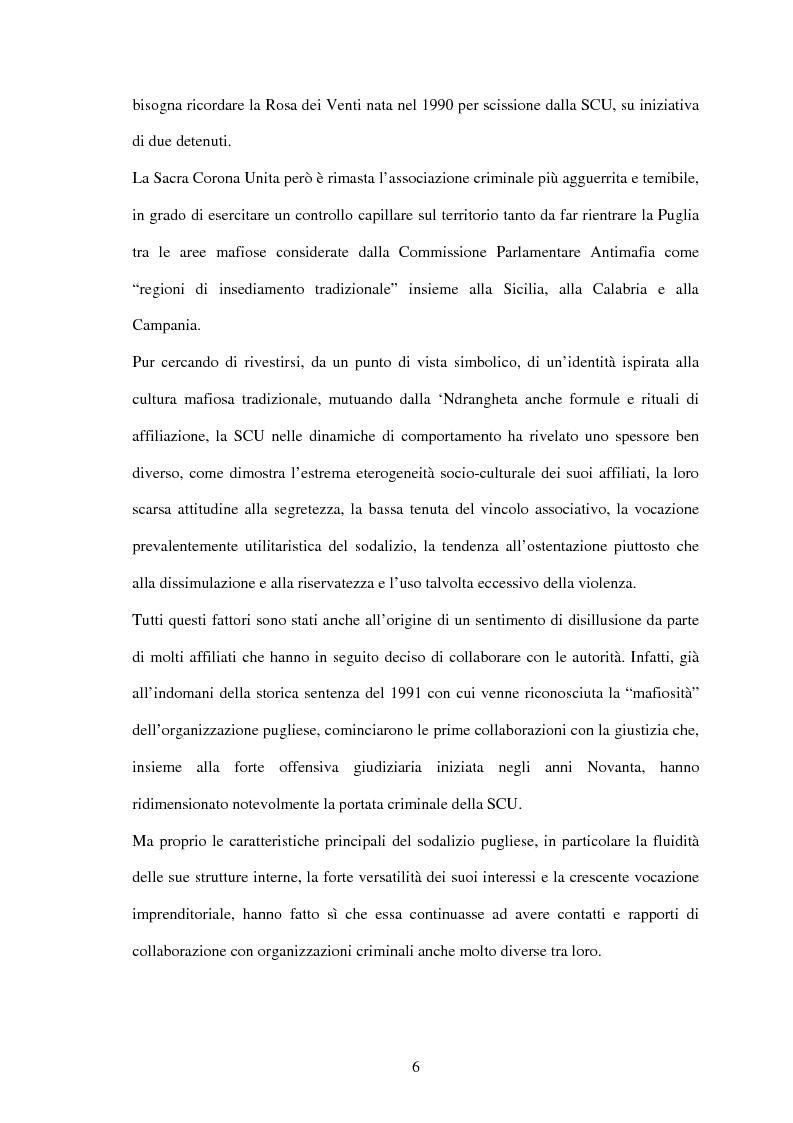 Anteprima della tesi: La criminalità organizzata di matrice mafiosa in Puglia, Pagina 4