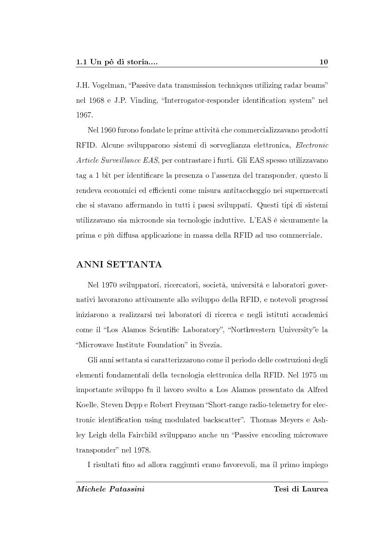 Anteprima della tesi: Studio di un'antenna a dipolo per applicazioni RFID a 2.45 GHz: indagine numerica, Pagina 10