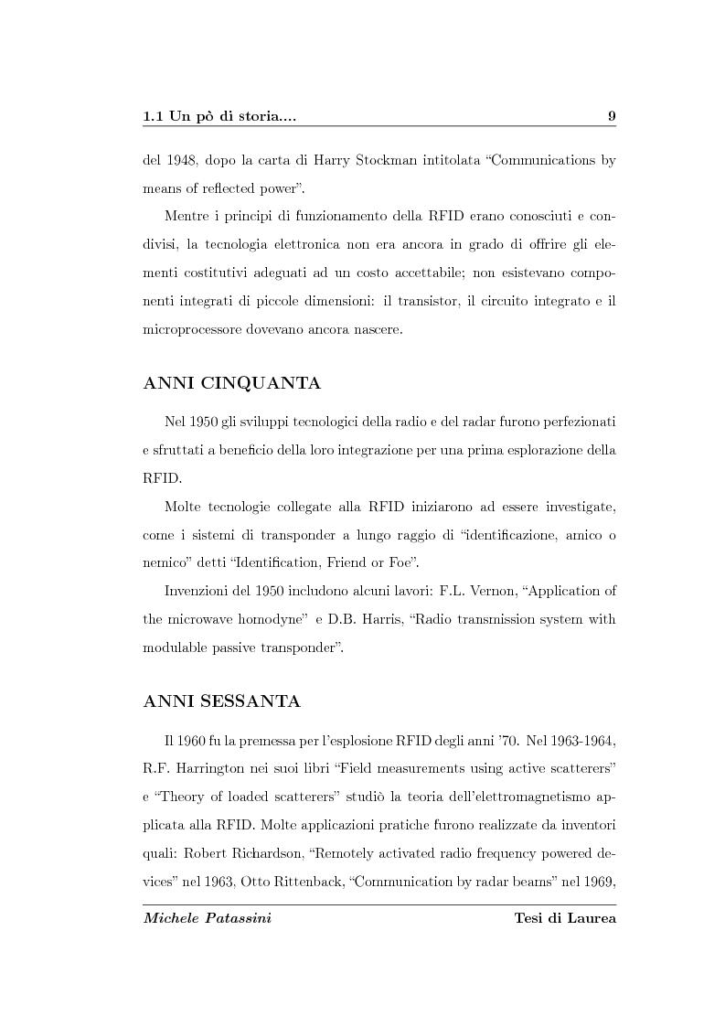 Anteprima della tesi: Studio di un'antenna a dipolo per applicazioni RFID a 2.45 GHz: indagine numerica, Pagina 9
