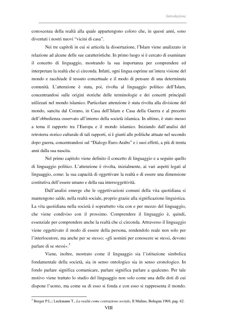 Anteprima della tesi: Il linguaggio politico dell'Islam, Pagina 3