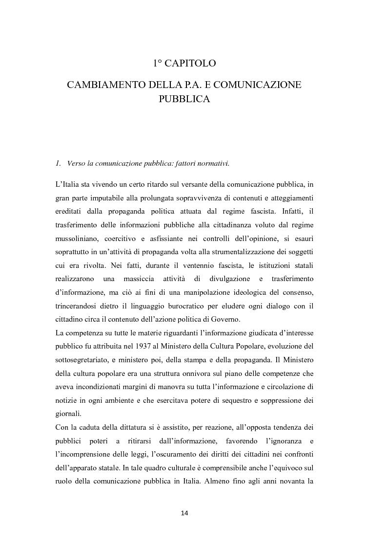 Anteprima della tesi: L'amministrazione che ascolta. Analisi della customer satisfaction degli utenti dell'Urp del comune di Torre del greco, Pagina 11