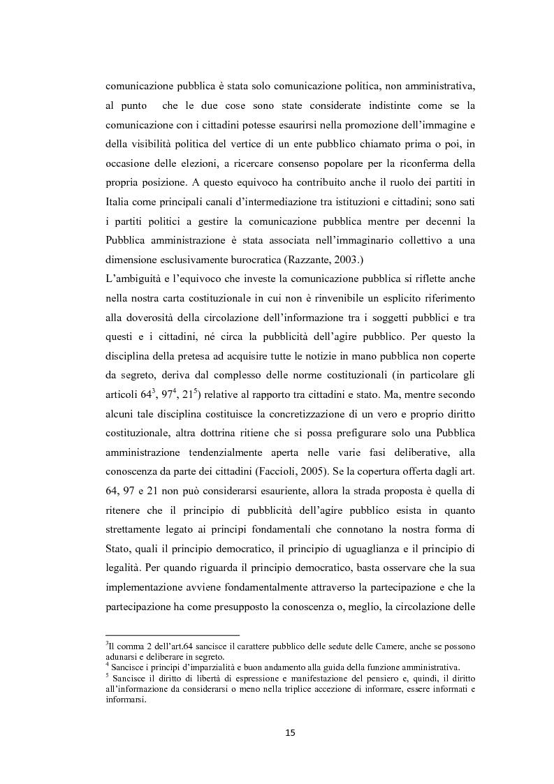 Anteprima della tesi: L'amministrazione che ascolta. Analisi della customer satisfaction degli utenti dell'Urp del comune di Torre del greco, Pagina 12