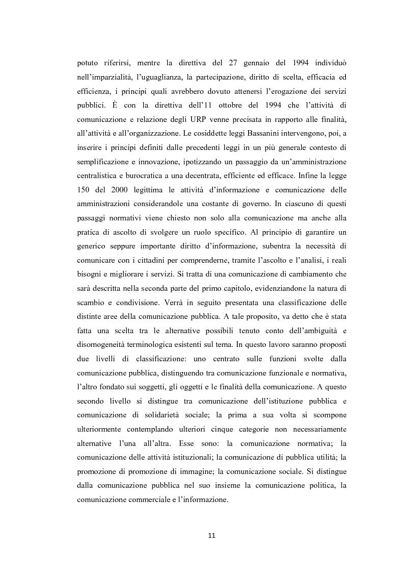 Anteprima della tesi: L'amministrazione che ascolta. Analisi della customer satisfaction degli utenti dell'Urp del comune di Torre del greco, Pagina 8