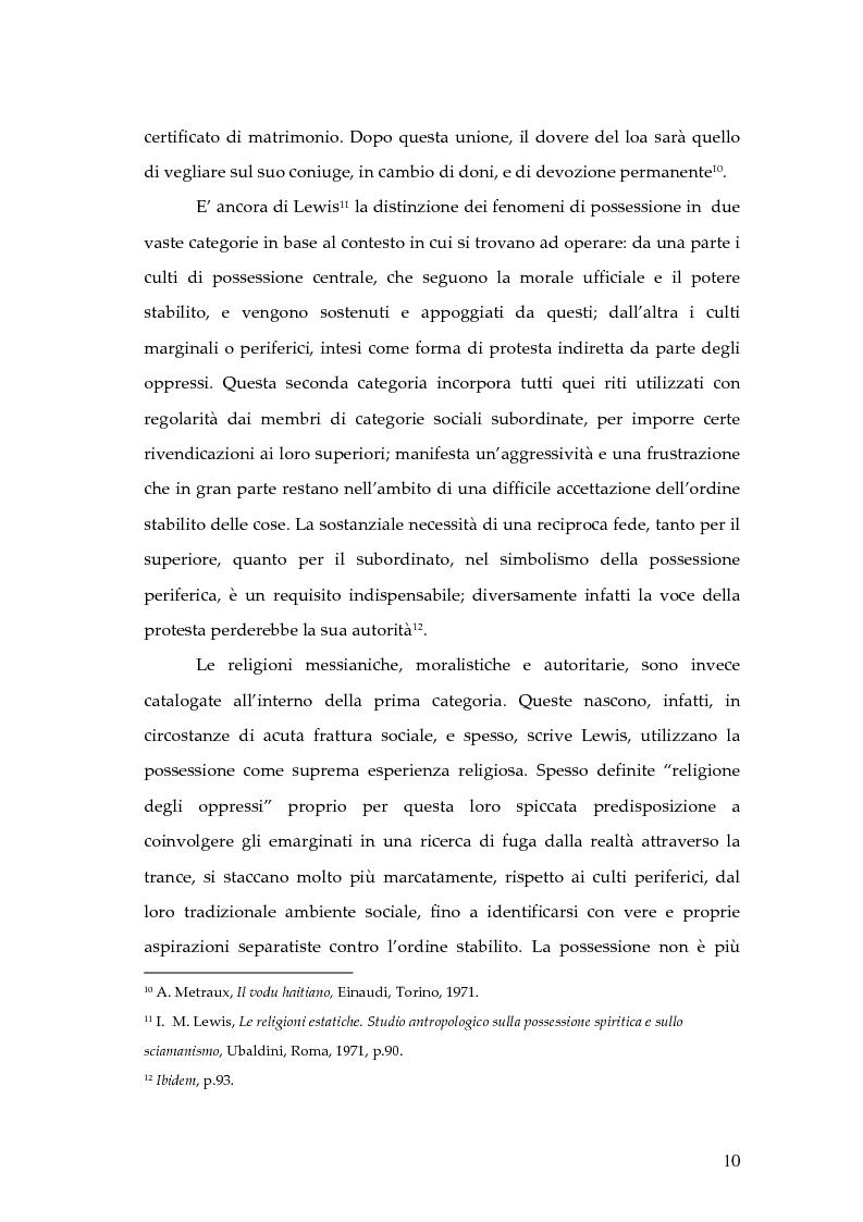 Anteprima della tesi: Dal rito della taranta al vudu haitiano: analisi di alcuni paralleli etnografici nell'opera di de Martino, Pagina 7