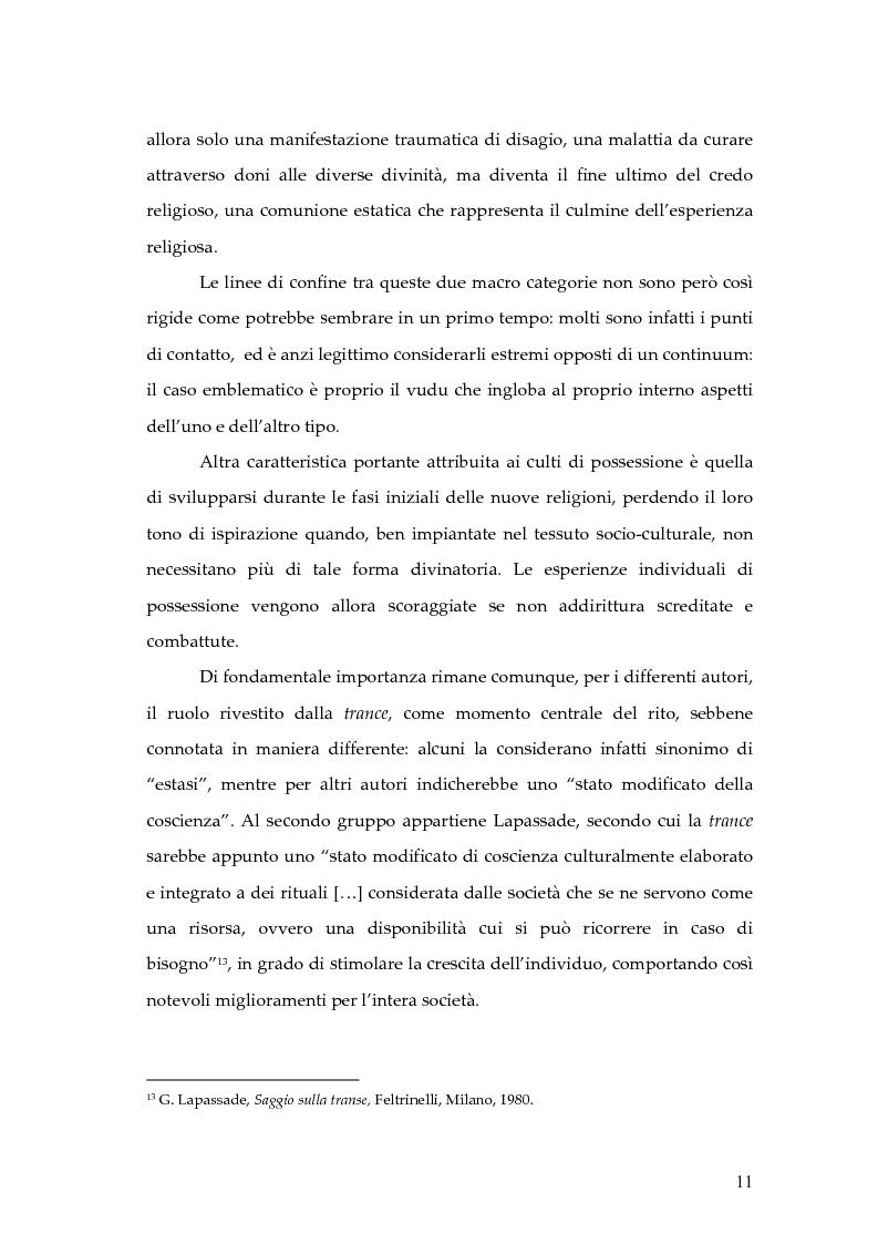 Anteprima della tesi: Dal rito della taranta al vudu haitiano: analisi di alcuni paralleli etnografici nell'opera di de Martino, Pagina 8