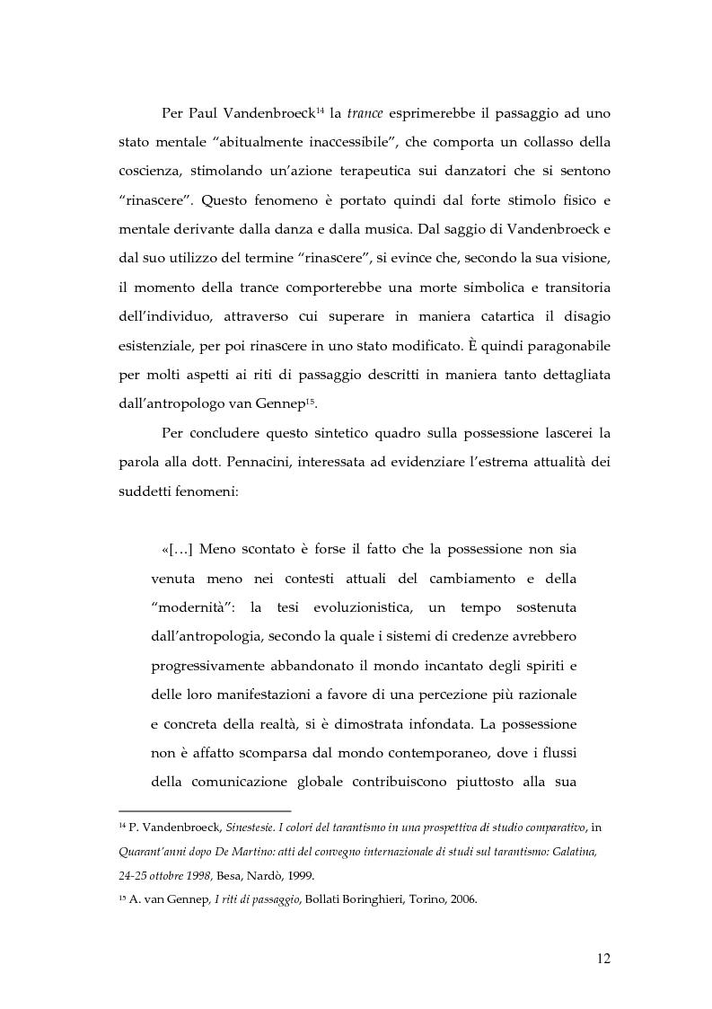Anteprima della tesi: Dal rito della taranta al vudu haitiano: analisi di alcuni paralleli etnografici nell'opera di de Martino, Pagina 9