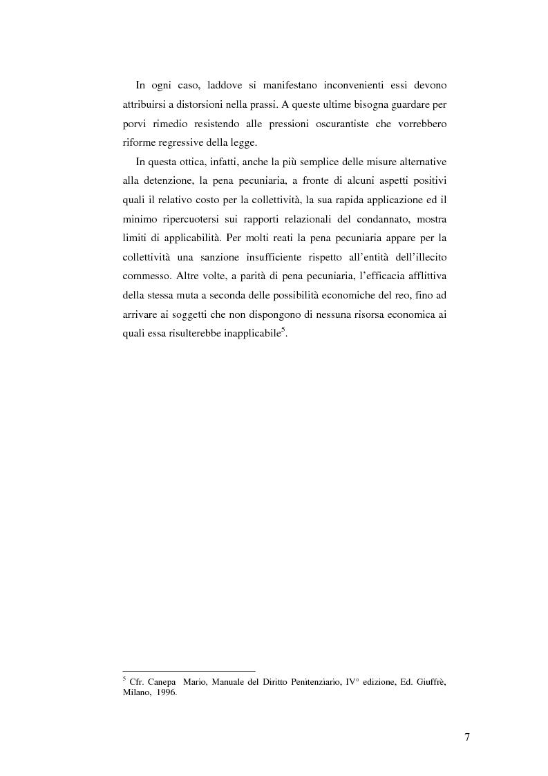 Anteprima della tesi: Realtà applicativa delle misure alternative alla pena e risocializzazione del reo, Pagina 3