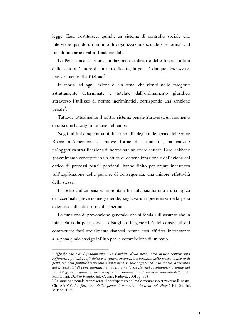 Anteprima della tesi: Realtà applicativa delle misure alternative alla pena e risocializzazione del reo, Pagina 5