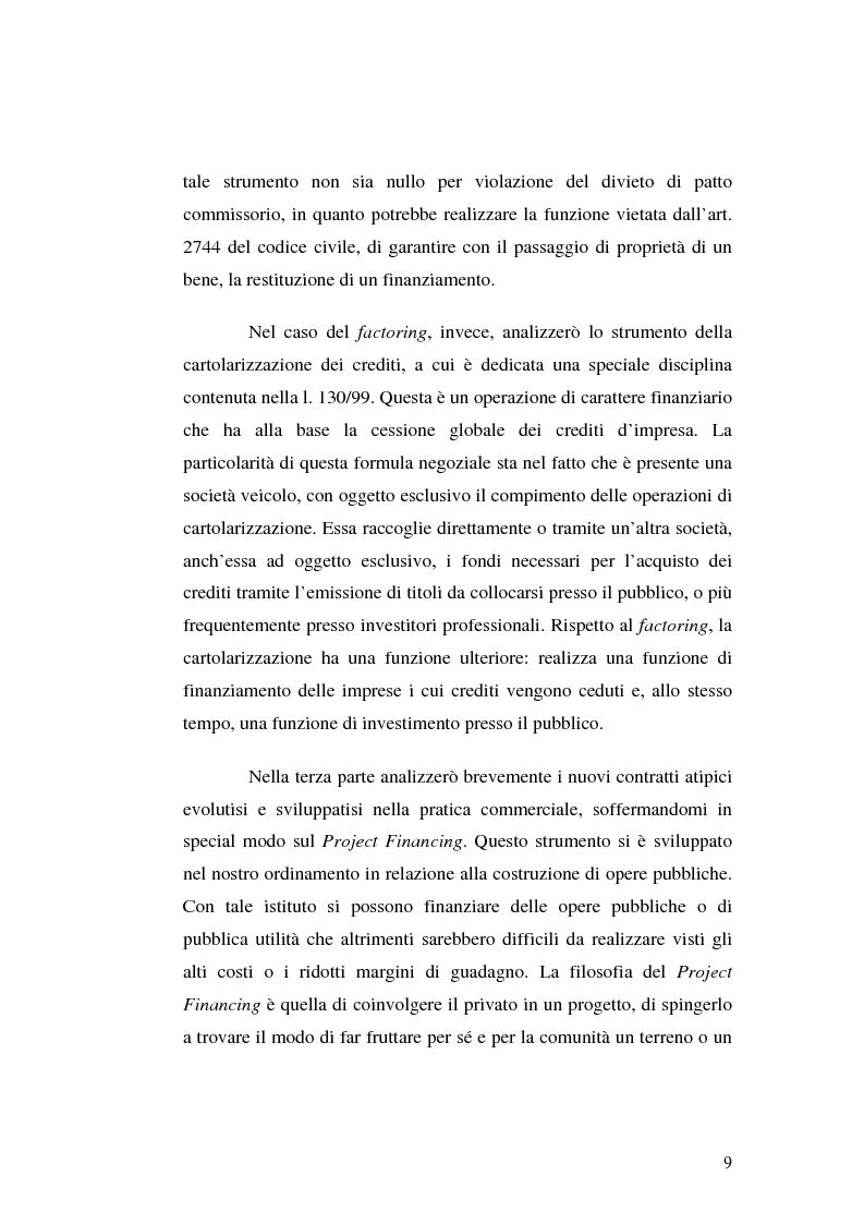 Anteprima della tesi: I servizi bancari atipici di finanziamento per le imprese, Pagina 4