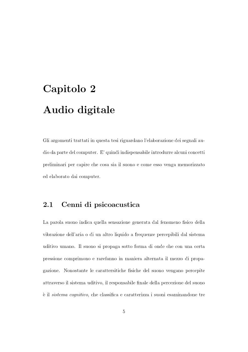 Anteprima della tesi: Design, tuning e sperimentazione di filtri bilaterali per l'audio, Pagina 3