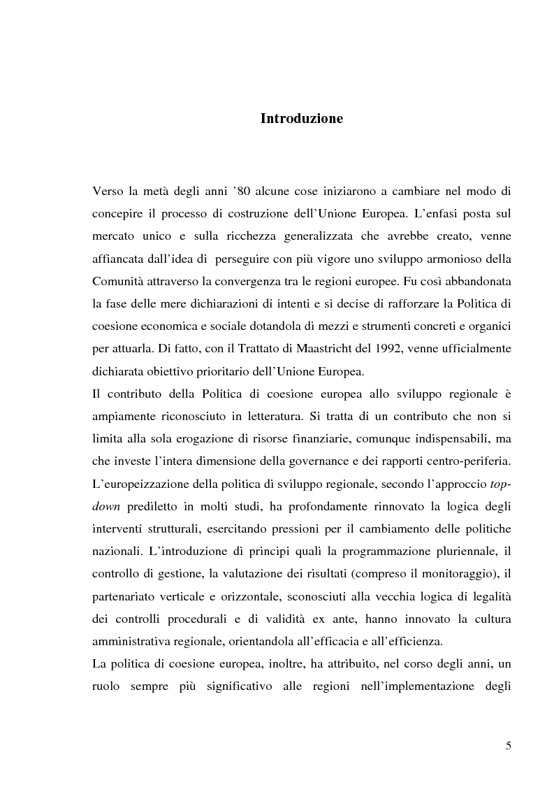 Anteprima della tesi: I fondi strutturali in Basilicata: un caso di successo, Pagina 1