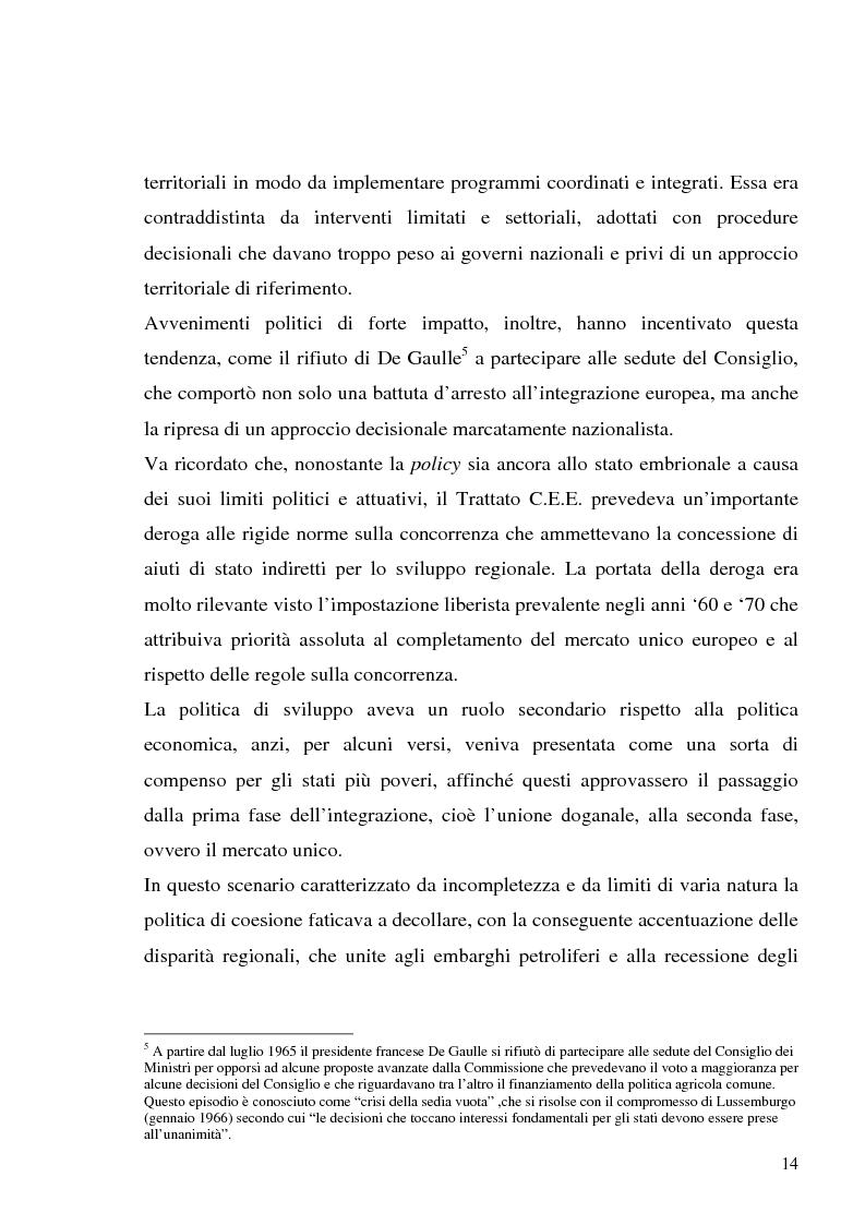 Anteprima della tesi: I fondi strutturali in Basilicata: un caso di successo, Pagina 10