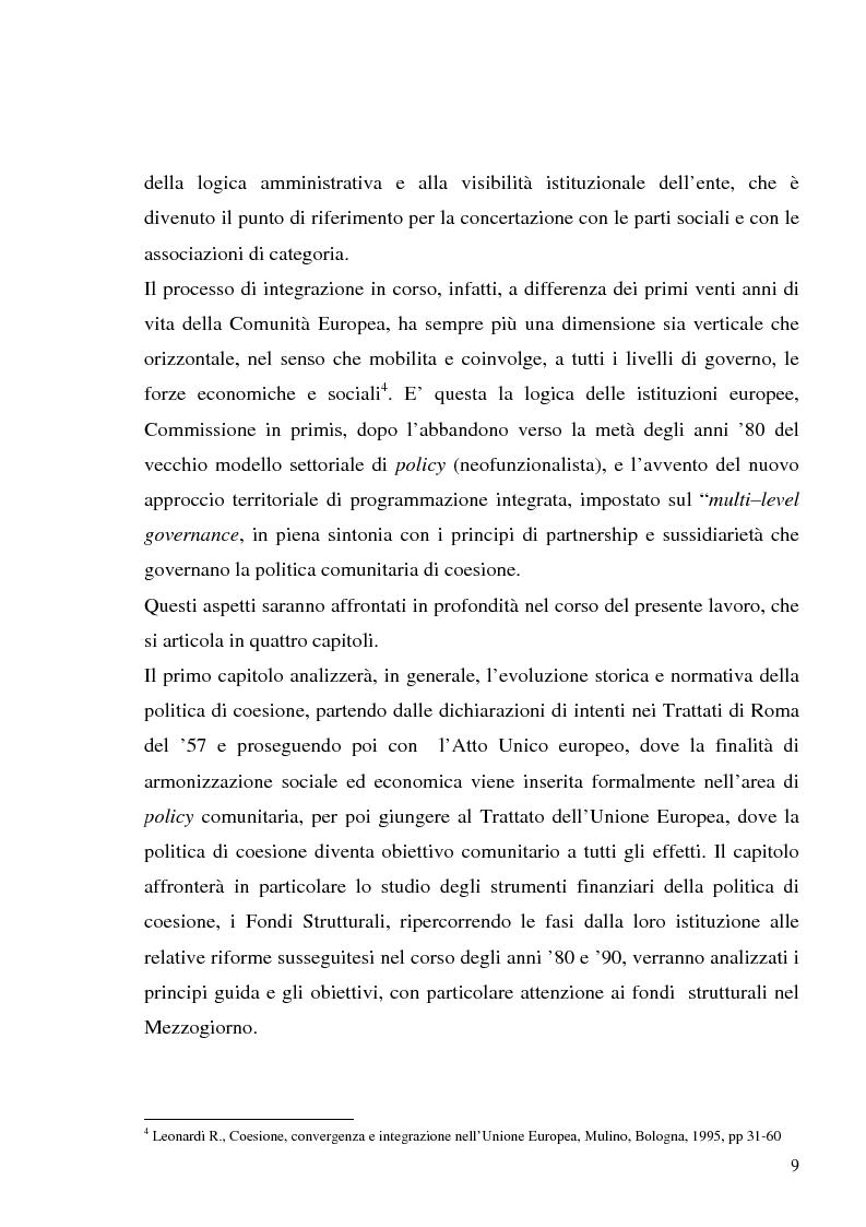 Anteprima della tesi: I fondi strutturali in Basilicata: un caso di successo, Pagina 5