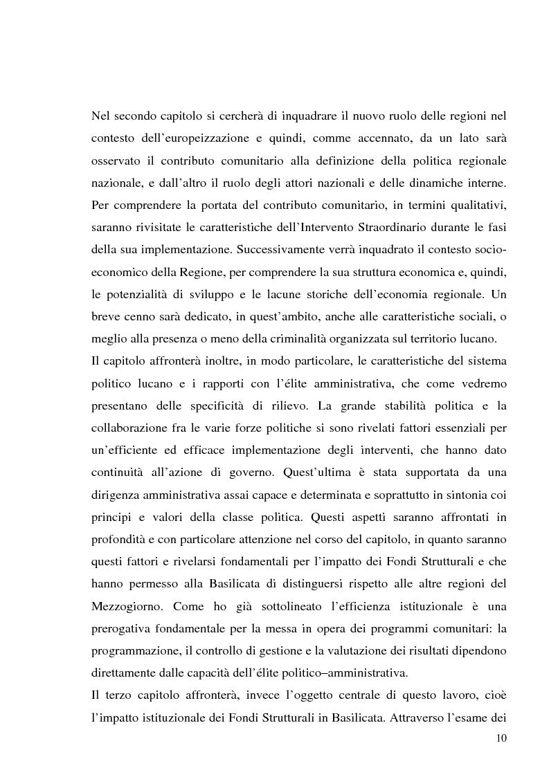 Anteprima della tesi: I fondi strutturali in Basilicata: un caso di successo, Pagina 6