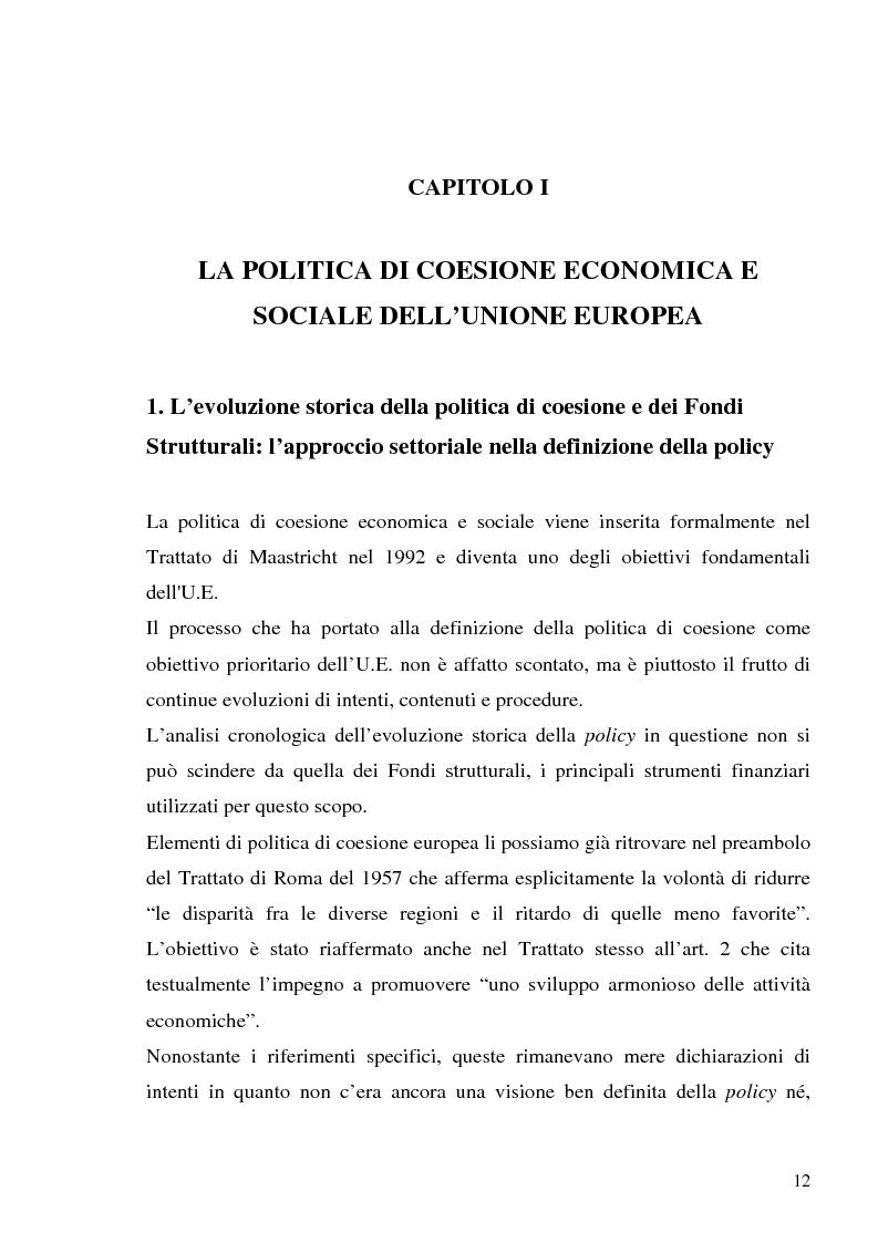 Anteprima della tesi: I fondi strutturali in Basilicata: un caso di successo, Pagina 8