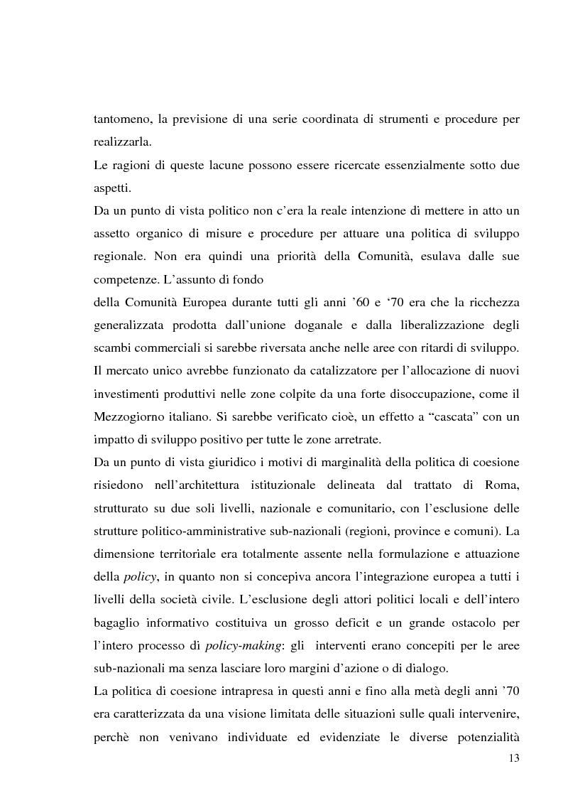 Anteprima della tesi: I fondi strutturali in Basilicata: un caso di successo, Pagina 9