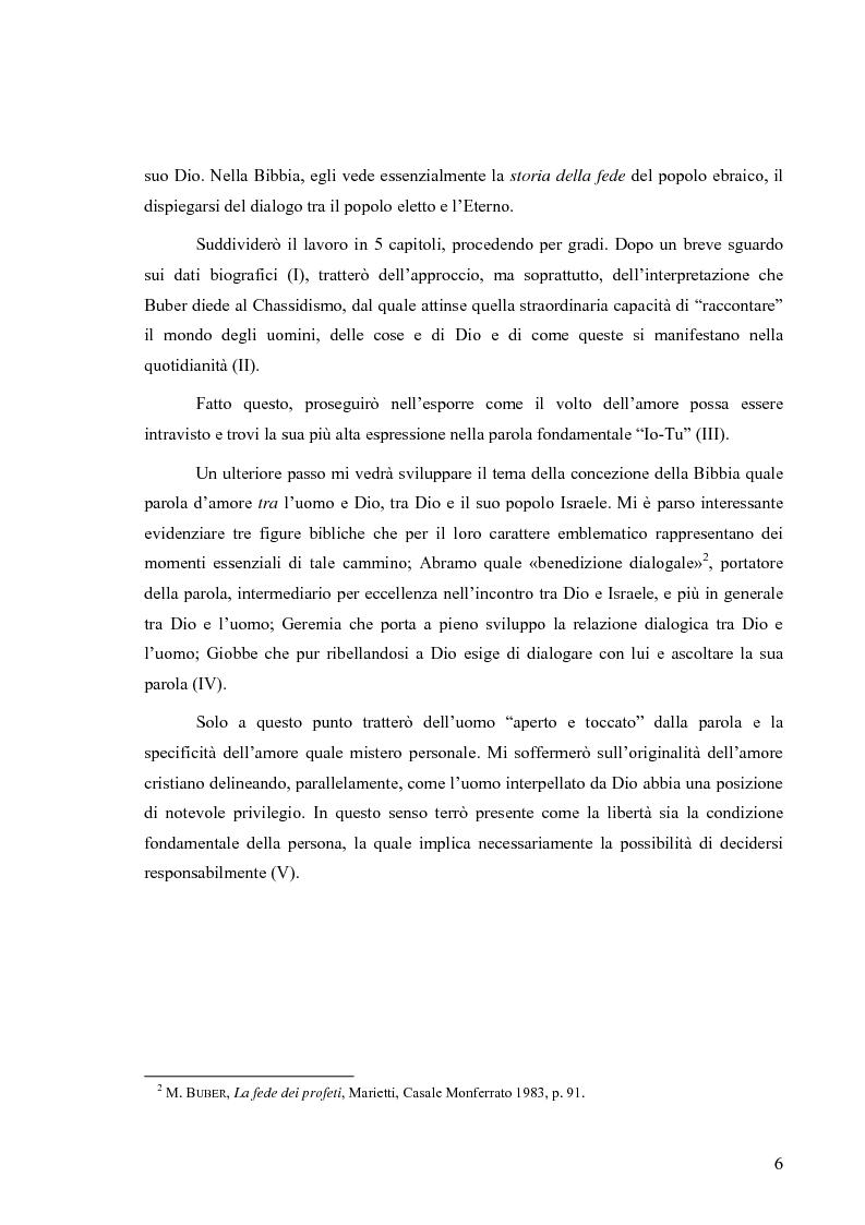 Anteprima della tesi: L'uomo esiste nella parola e nell'amore (un itinerario esemplare: in dialogo con Martin Buber), Pagina 3