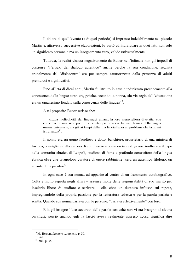 Anteprima della tesi: L'uomo esiste nella parola e nell'amore (un itinerario esemplare: in dialogo con Martin Buber), Pagina 6
