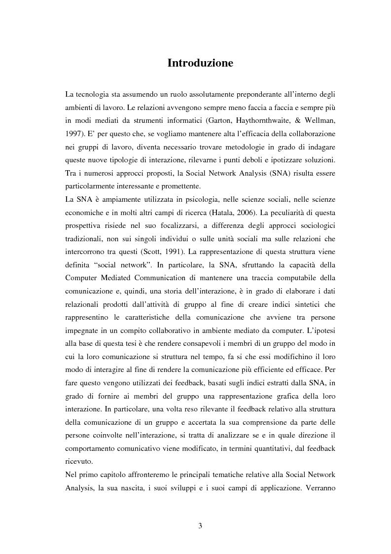 Anteprima della tesi: L'effetto di feedback basati sulla struttura delle reti sociali nell'interazione mediata da computer, Pagina 1