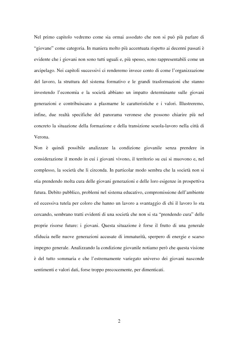 Anteprima della tesi: La condizione giovanile a Verona, Pagina 2