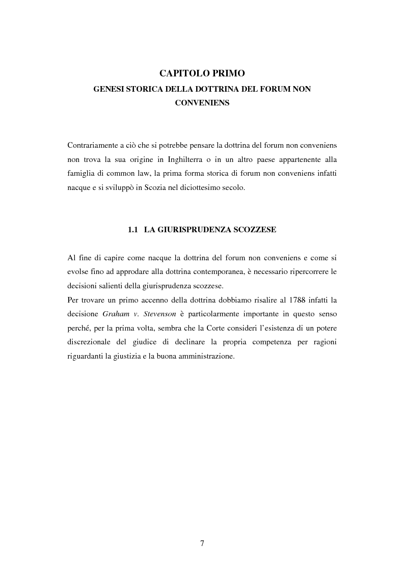Anteprima della tesi: Profili della litispendenza transnazionale in relazione al cosiddetto forum non conveniens, Pagina 3