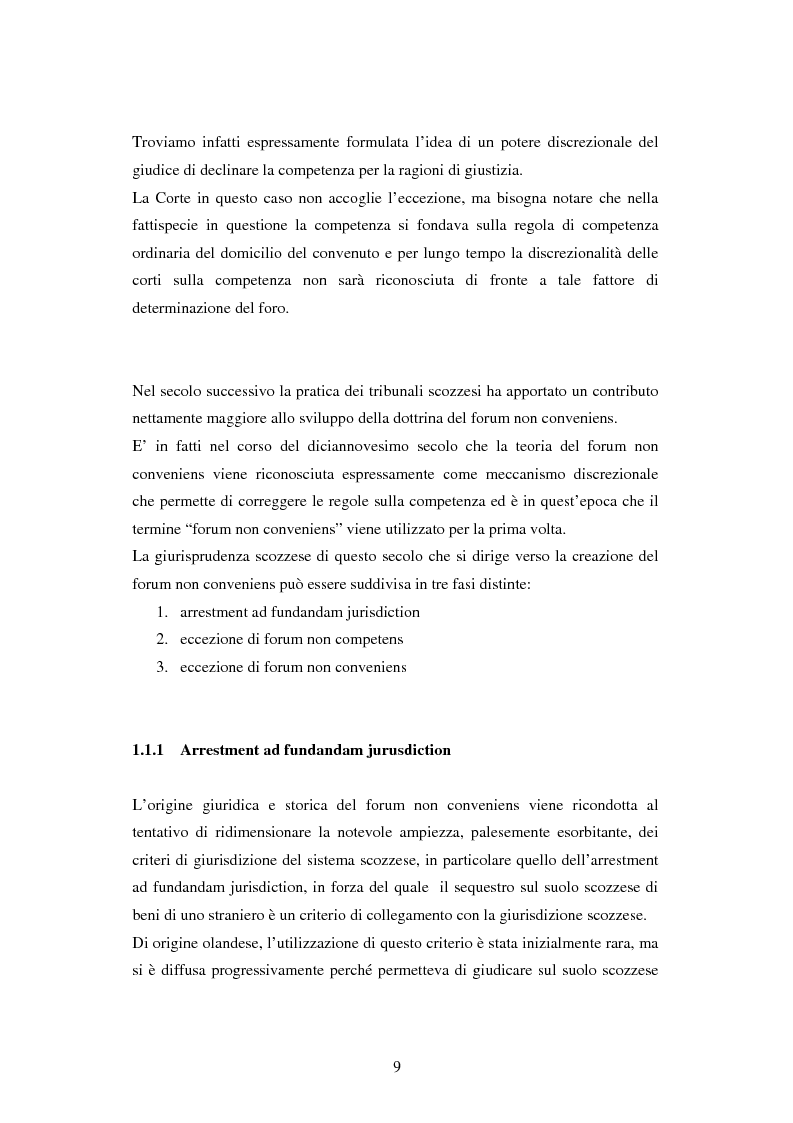 Anteprima della tesi: Profili della litispendenza transnazionale in relazione al cosiddetto forum non conveniens, Pagina 5