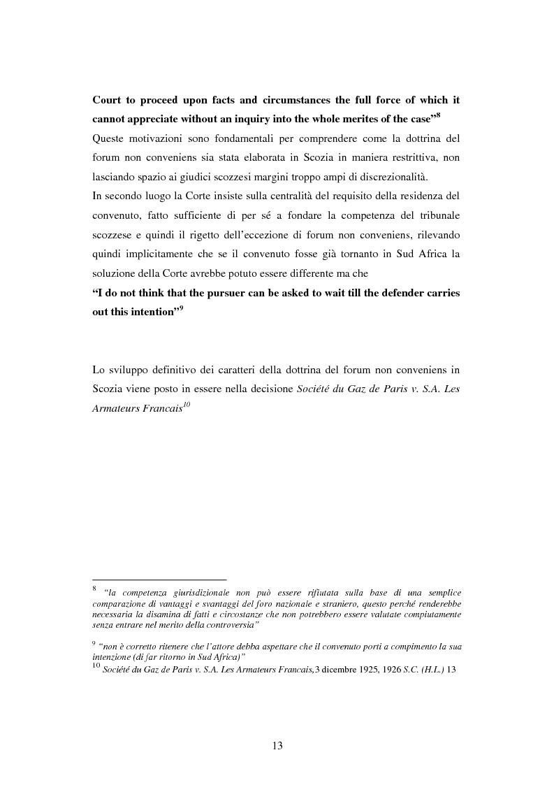 Anteprima della tesi: Profili della litispendenza transnazionale in relazione al cosiddetto forum non conveniens, Pagina 9