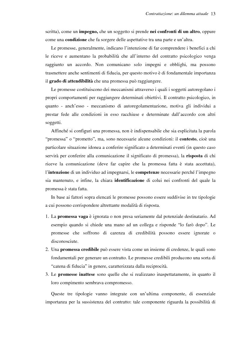 Anteprima della tesi: Il contratto psicologico nelle moderne organizzazioni, Pagina 13