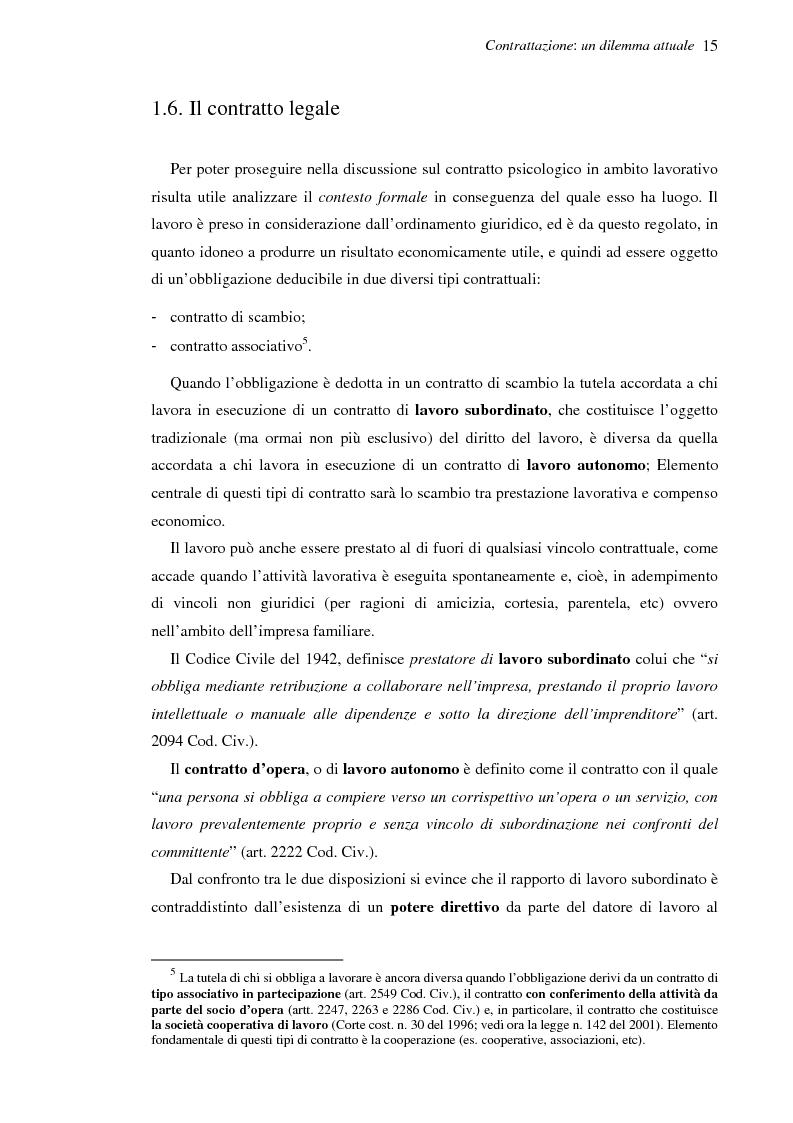 Anteprima della tesi: Il contratto psicologico nelle moderne organizzazioni, Pagina 15