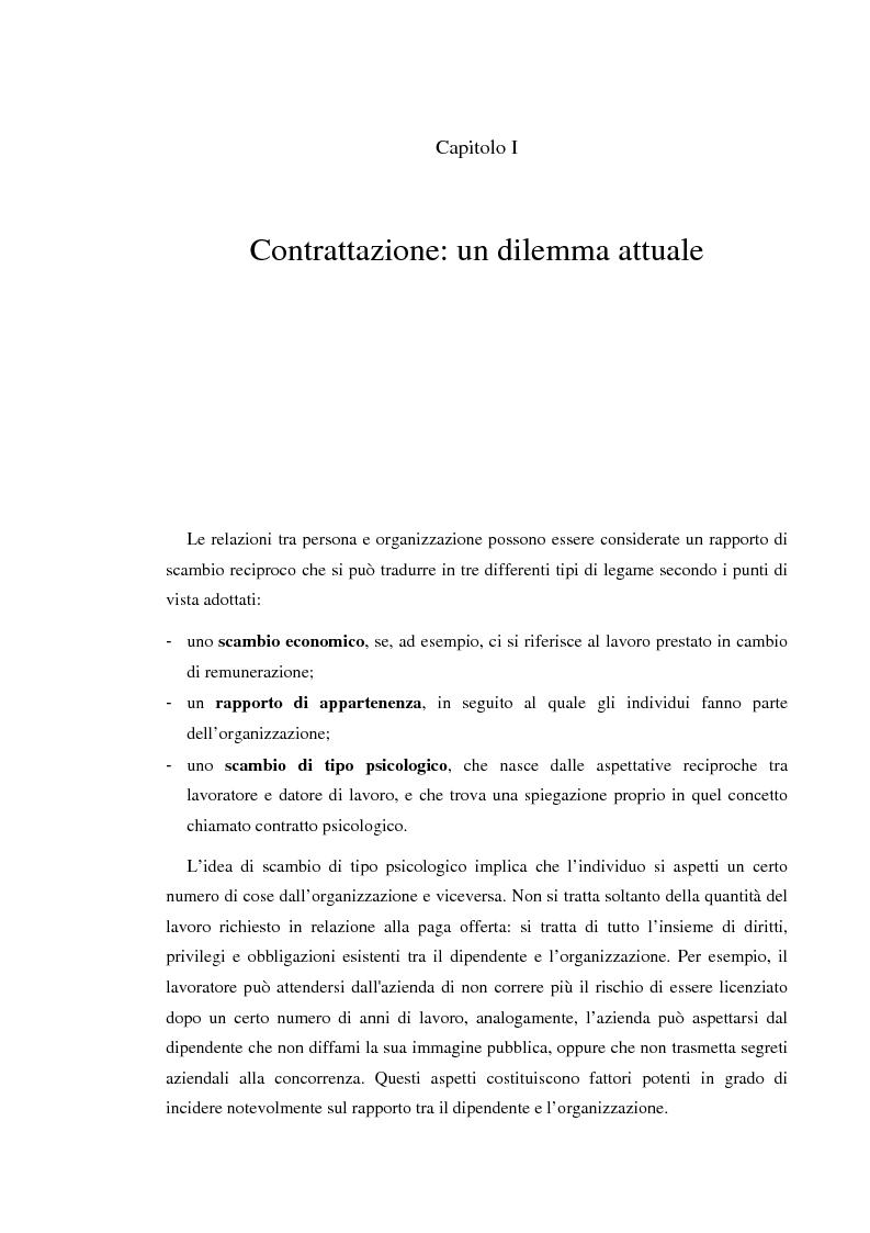 Anteprima della tesi: Il contratto psicologico nelle moderne organizzazioni, Pagina 3
