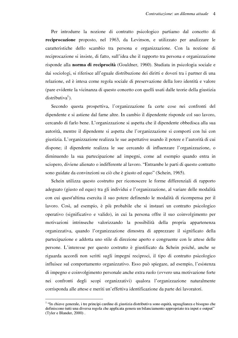 Anteprima della tesi: Il contratto psicologico nelle moderne organizzazioni, Pagina 4