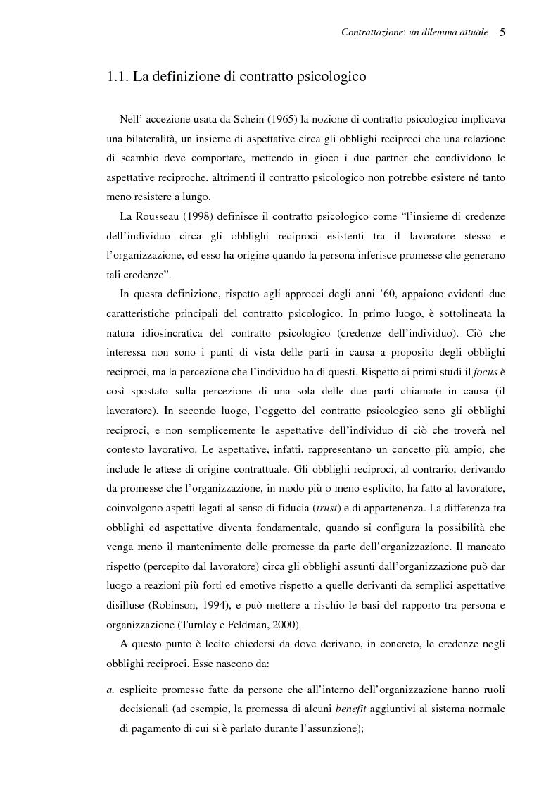 Anteprima della tesi: Il contratto psicologico nelle moderne organizzazioni, Pagina 5