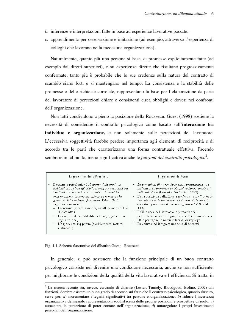 Anteprima della tesi: Il contratto psicologico nelle moderne organizzazioni, Pagina 6