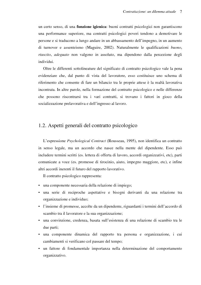 Anteprima della tesi: Il contratto psicologico nelle moderne organizzazioni, Pagina 7