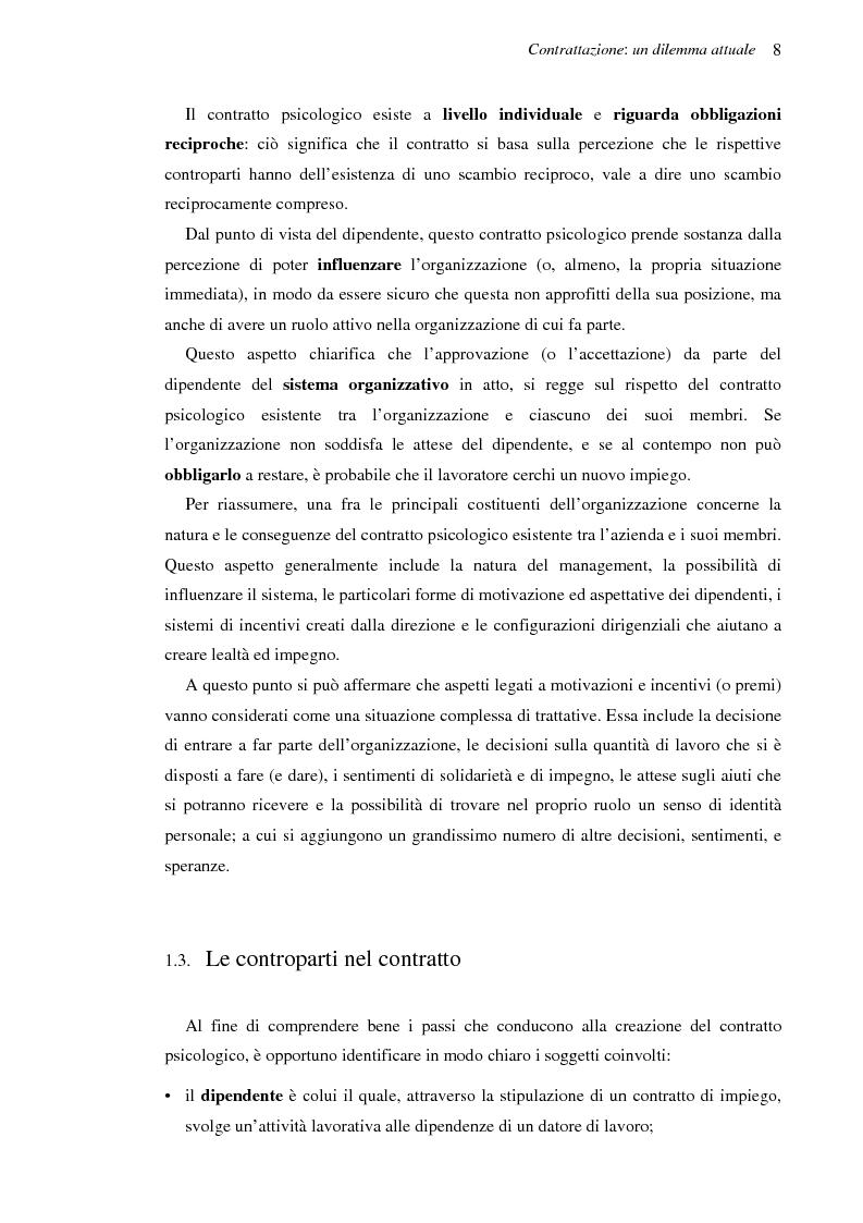 Anteprima della tesi: Il contratto psicologico nelle moderne organizzazioni, Pagina 8