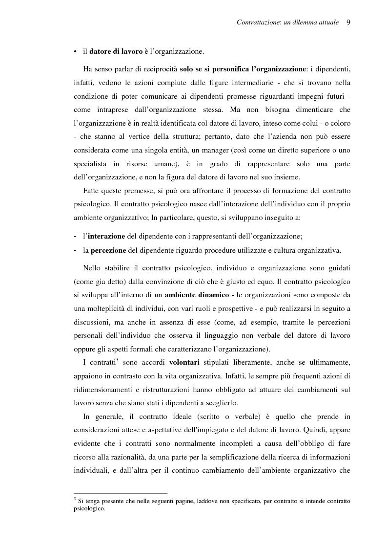 Anteprima della tesi: Il contratto psicologico nelle moderne organizzazioni, Pagina 9