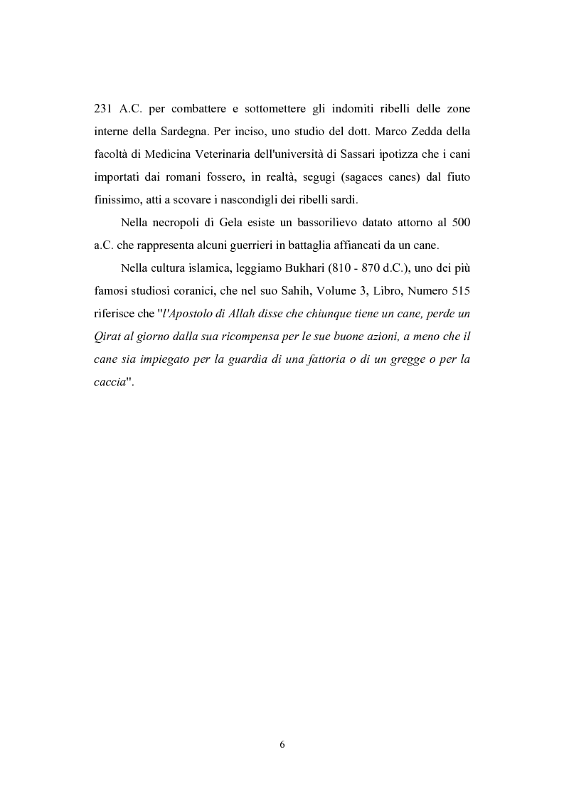 Anteprima della tesi: Il cane per la Pubblica Amministrazione Italiana: una prospettiva storica, Pagina 2