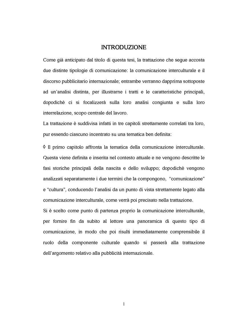 Anteprima della tesi: La comunicazione interculturale nella pubblicità internazionale: il caso Saatchi & Saatchi e il caso Grey Advertising, Pagina 1