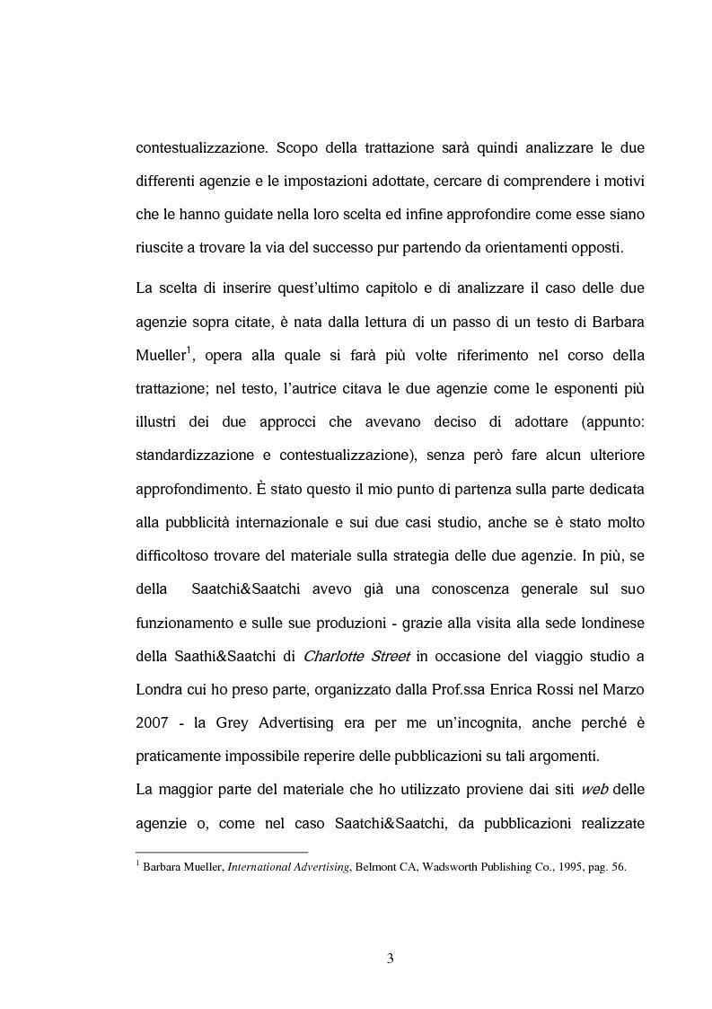 Anteprima della tesi: La comunicazione interculturale nella pubblicità internazionale: il caso Saatchi & Saatchi e il caso Grey Advertising, Pagina 3