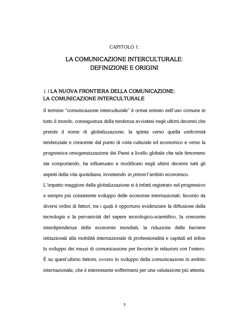 Anteprima della tesi: La comunicazione interculturale nella pubblicità internazionale: il caso Saatchi & Saatchi e il caso Grey Advertising, Pagina 5