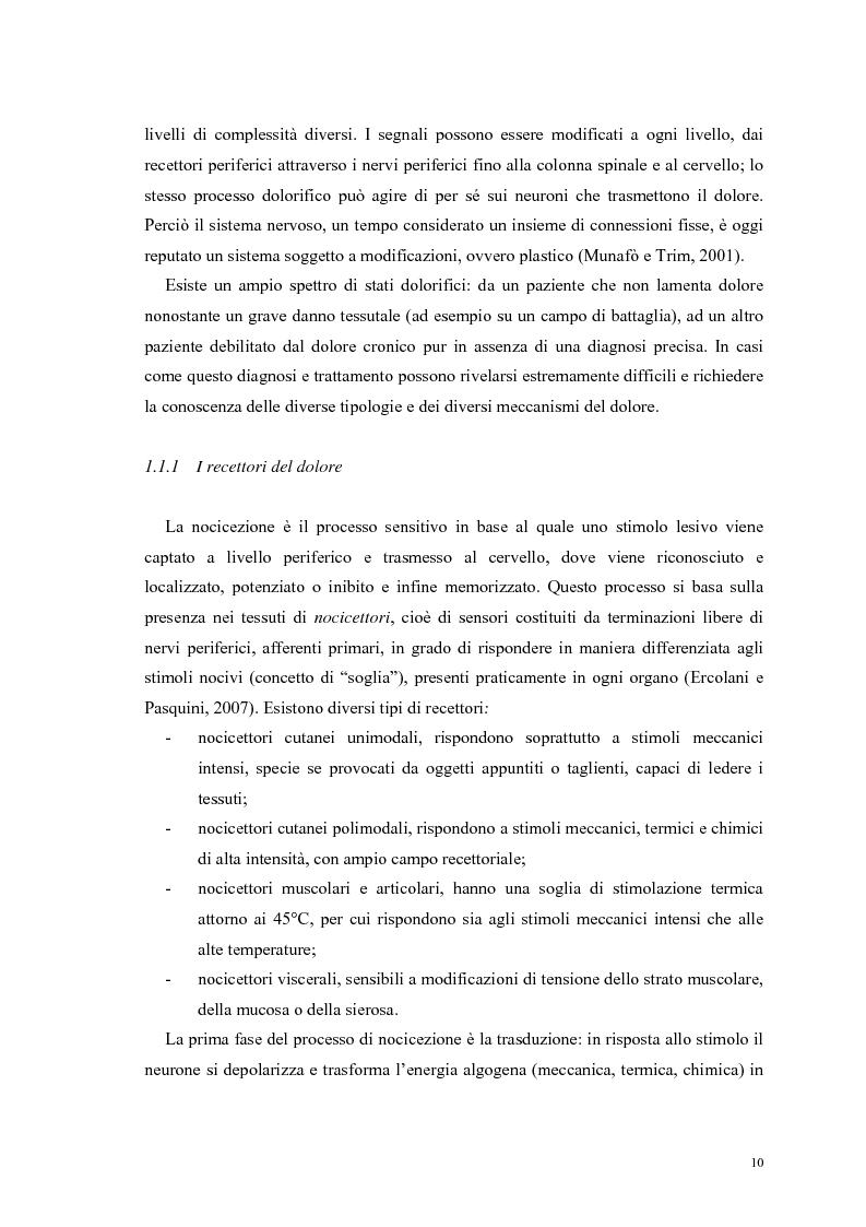 Anteprima della tesi: Aspetti psicologici e relazionali del dolore cronico, Pagina 4